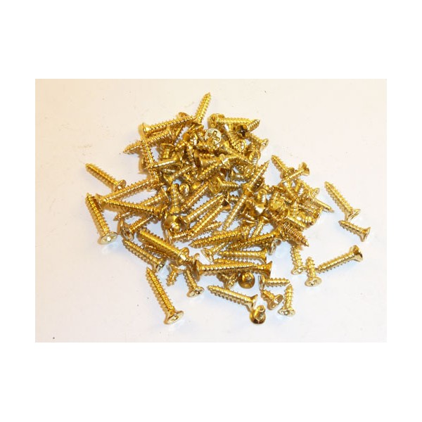 Cws Store 12mm X 2mm Countersunk Brass Plated Wood